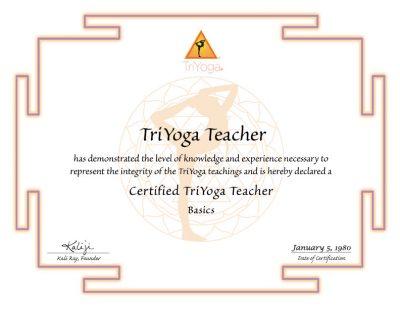 TriYoga Basics Certification