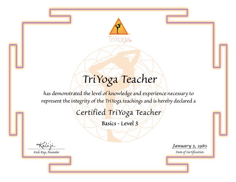 TriYoga Level 3 Certification