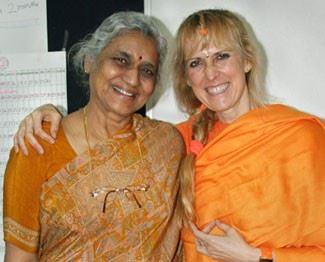 Yogini Kaliji visits rehab center in India