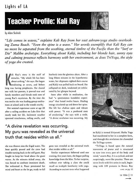L.A. Yoga Magazine, 2003