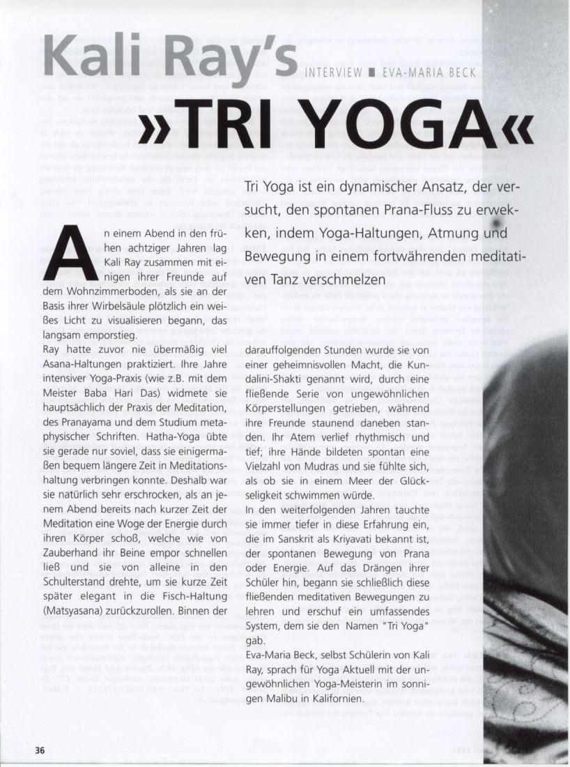 Yoga Aktuell 2001 page 1
