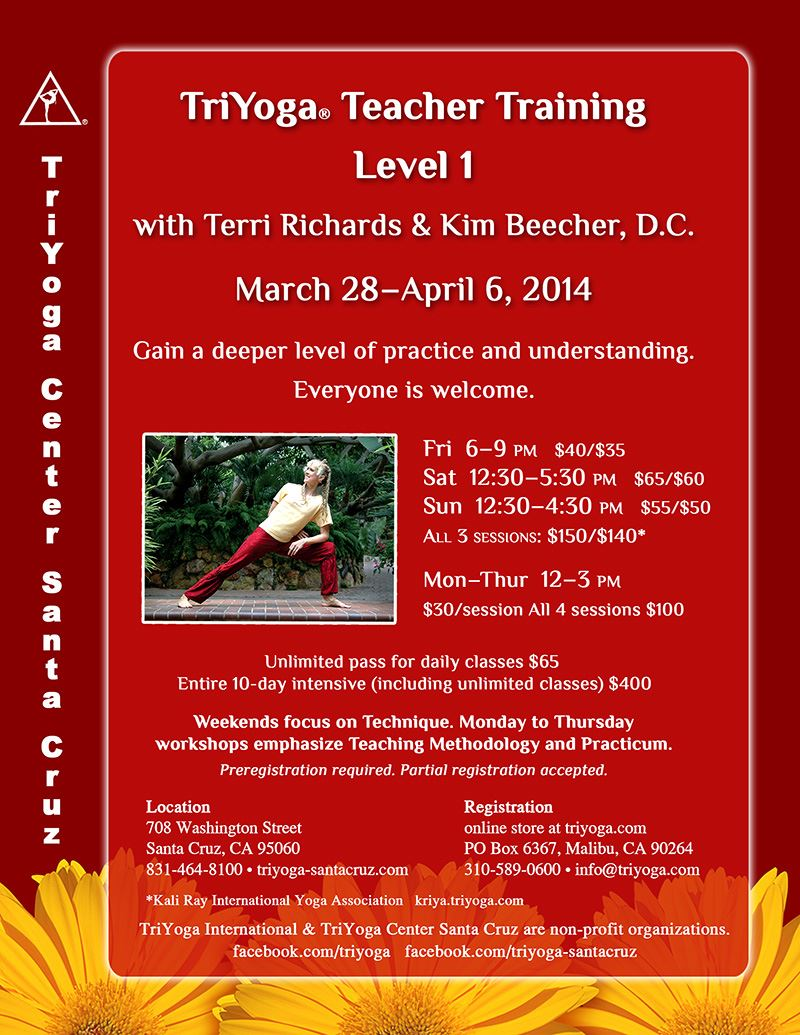 Level 1 TriYoga Teacher Training