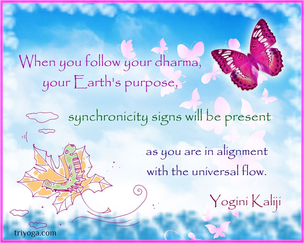 YoginiKaliji_quote_dharma_synchronicity