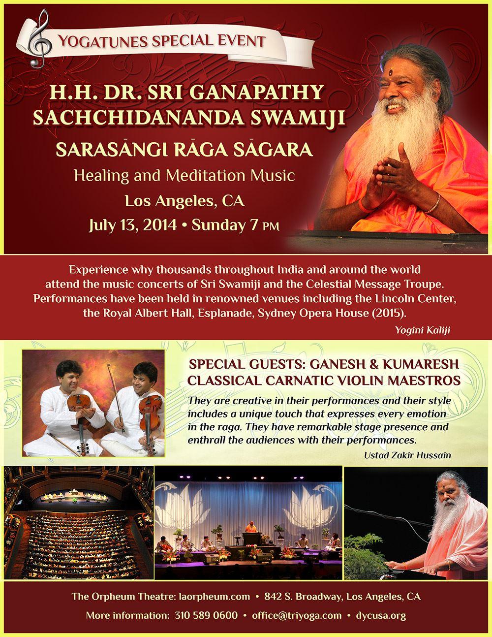 Sri Swamiji Concert CA 2014