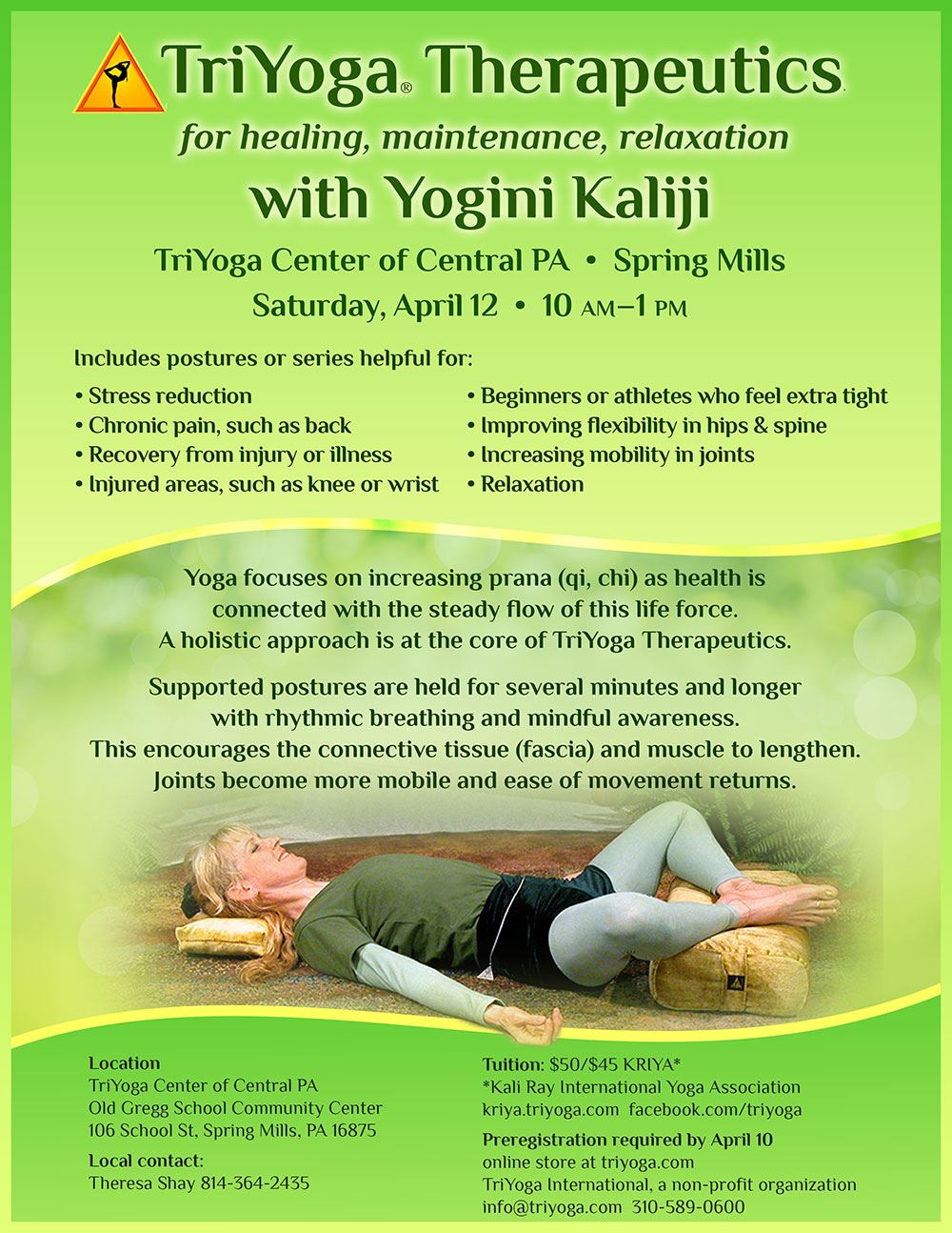 TriYoga with Yogini Kaliji in State College, PA