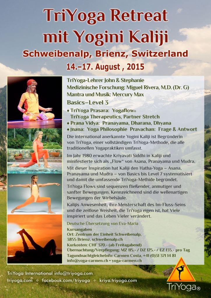 TriYoga Retreat with Yogini Kaliji in Switzerland