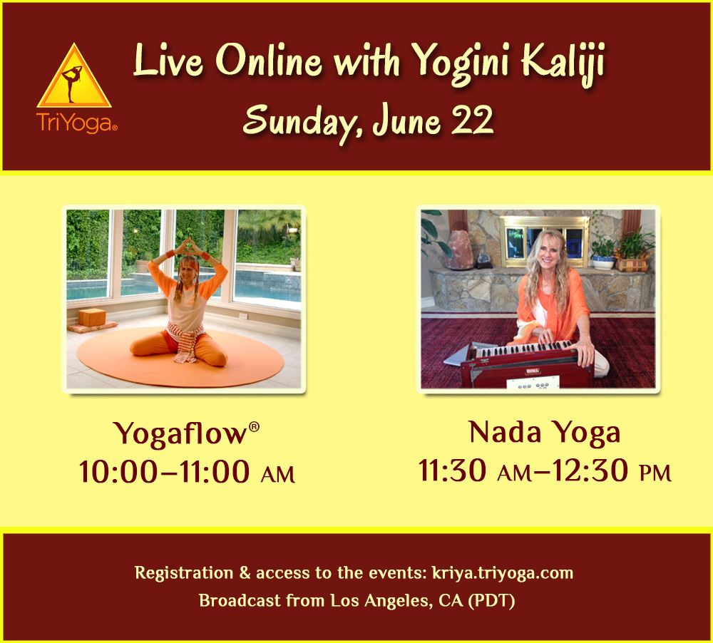 Live Online events with Yogini Kaliji