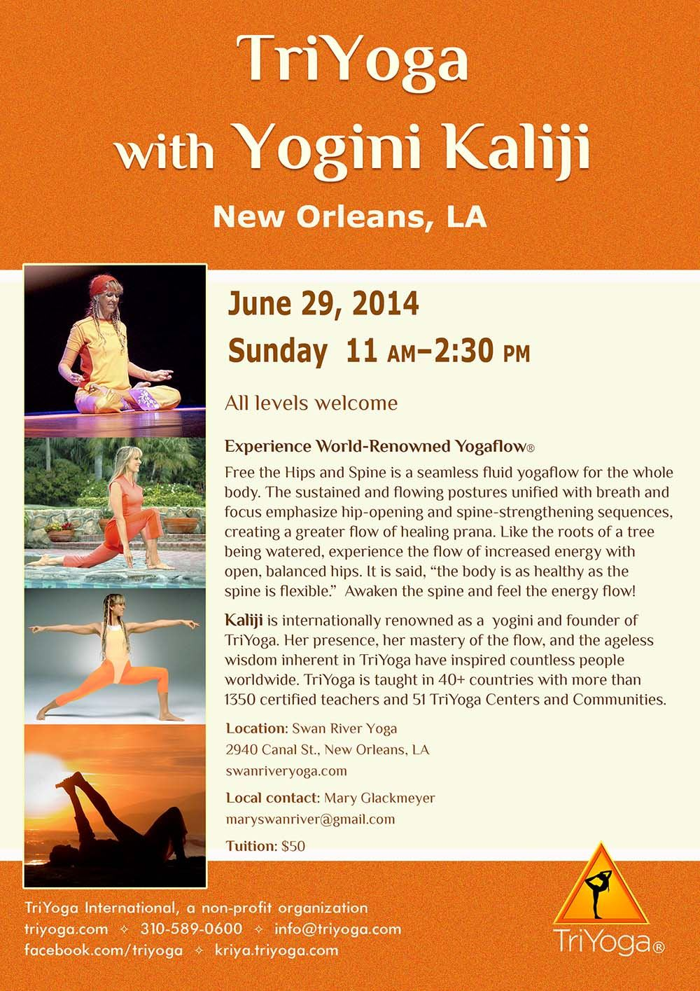 TriYoga with Yogini Kaliji in New Orleans