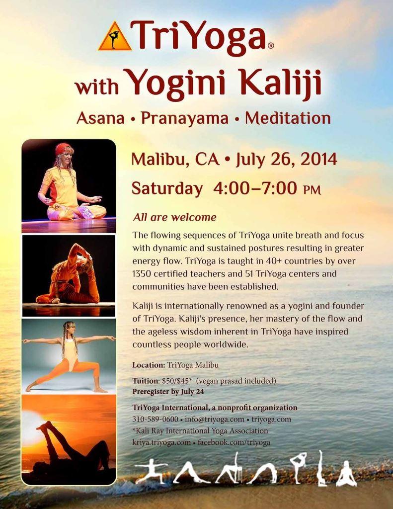TriYoga with Yogini Kaliji in Malibu, CA