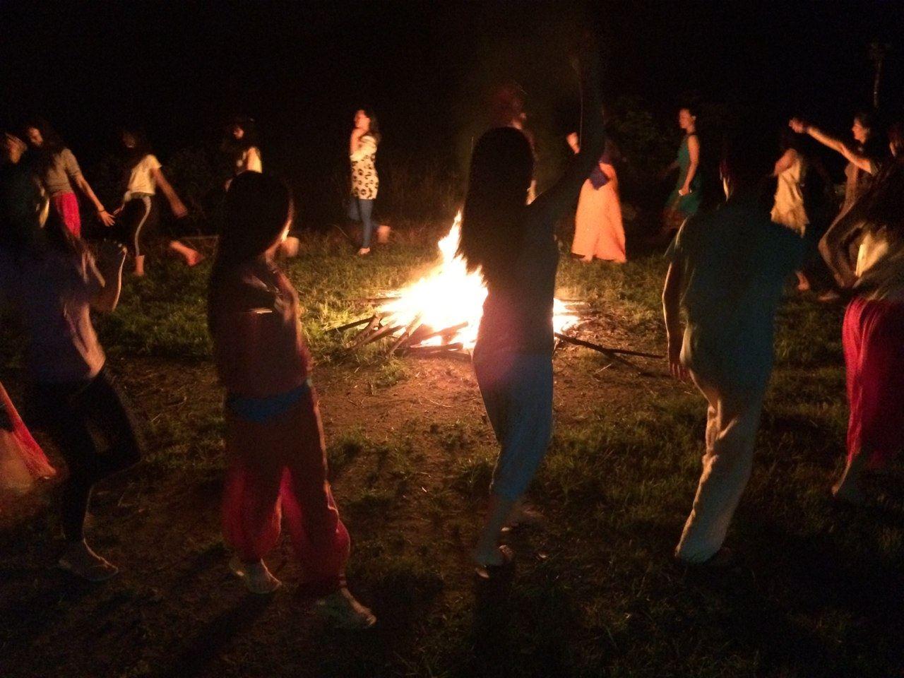retreat bonfire