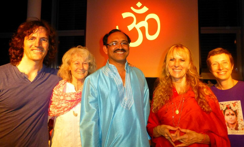 Prasann with Yogini Kaliji and students