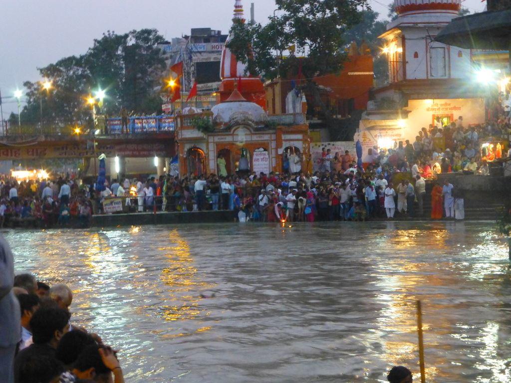 Sunset arati in Haridwar