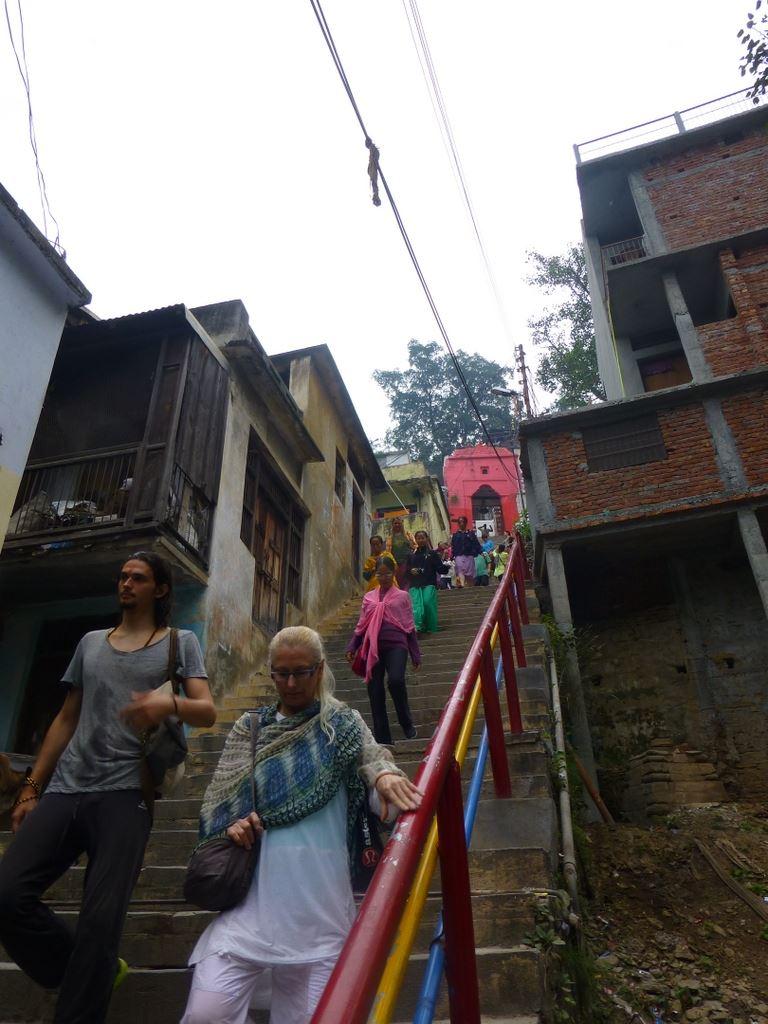 The narrow suspension bridge