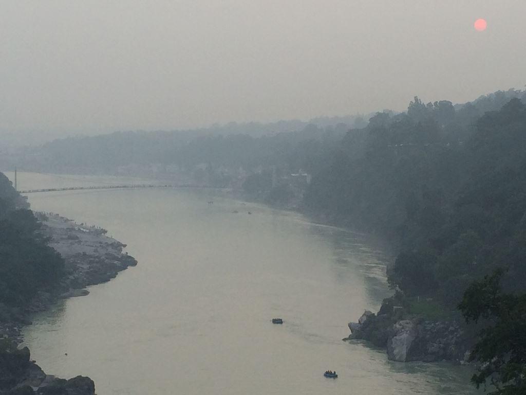 Sunset view of Ganga in Rishikesh