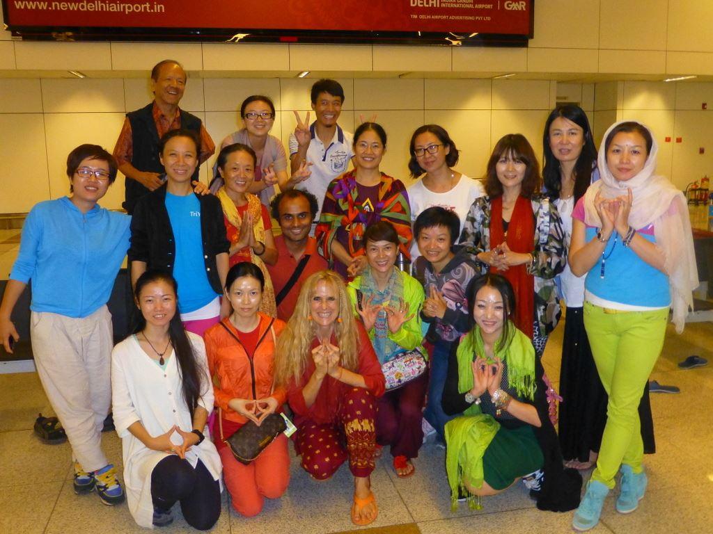 Group farewell at Delhi Airport