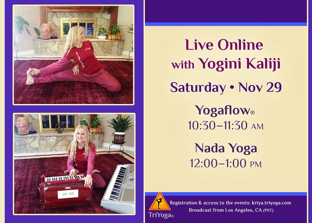 Yogaflow and Nada Yoga with Kaliji Live Online