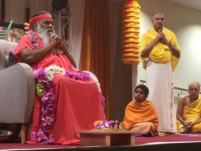 Prasadi gives a talk