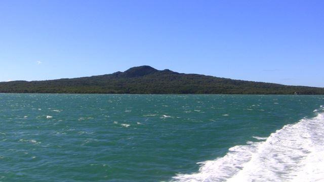 Rangitoto from boat