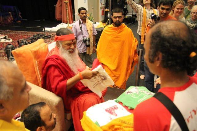 T-shirts presented to Sri Swamiji