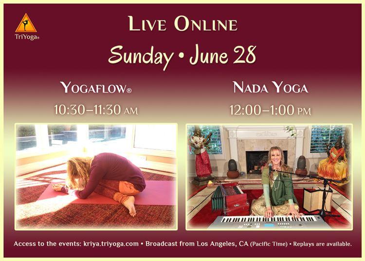 Yogaflow & Nada Yoga Live Online