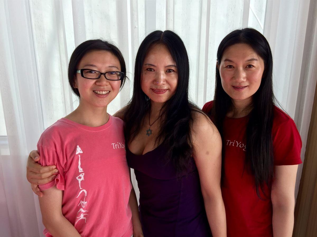 Tina, Yuan Ming, and Enya