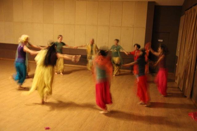 Dancing during satsang