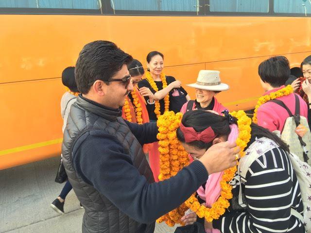Deepak greeting tour group