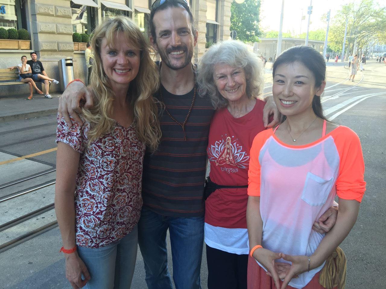 Santoshi, Rishi, Eva-Maria, and Kiki