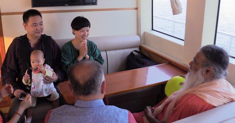 Sri Swamiji talking to TY Students