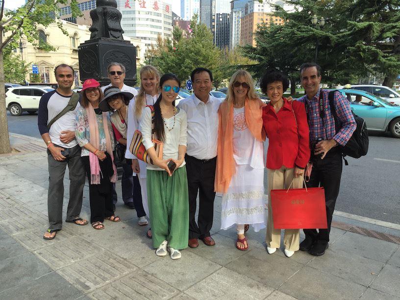 TriYoga group sightseeing in Dalian