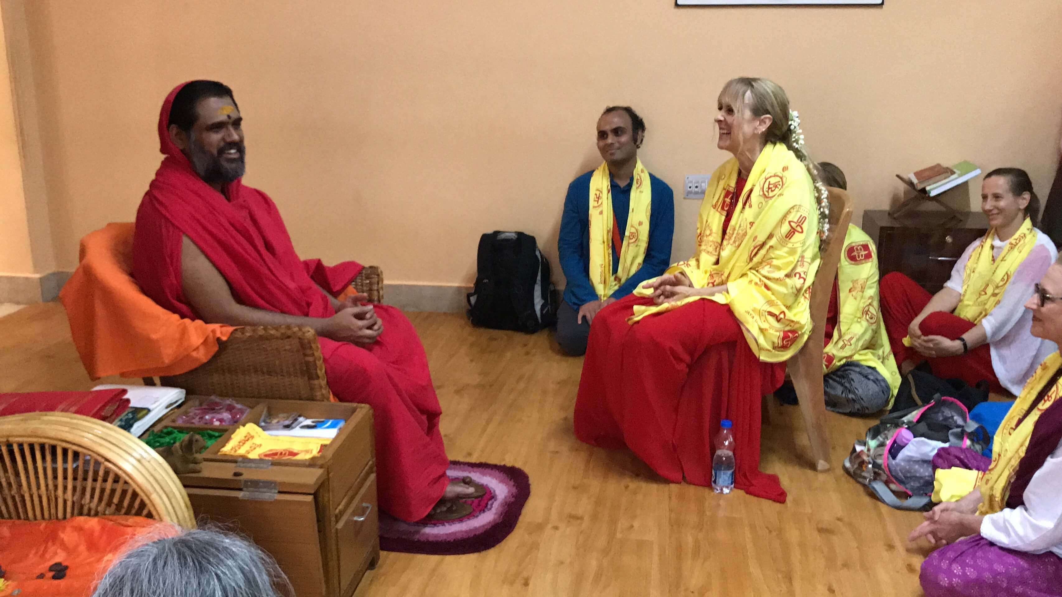Darshan with Vijayananda Teertha Bala Swamiji