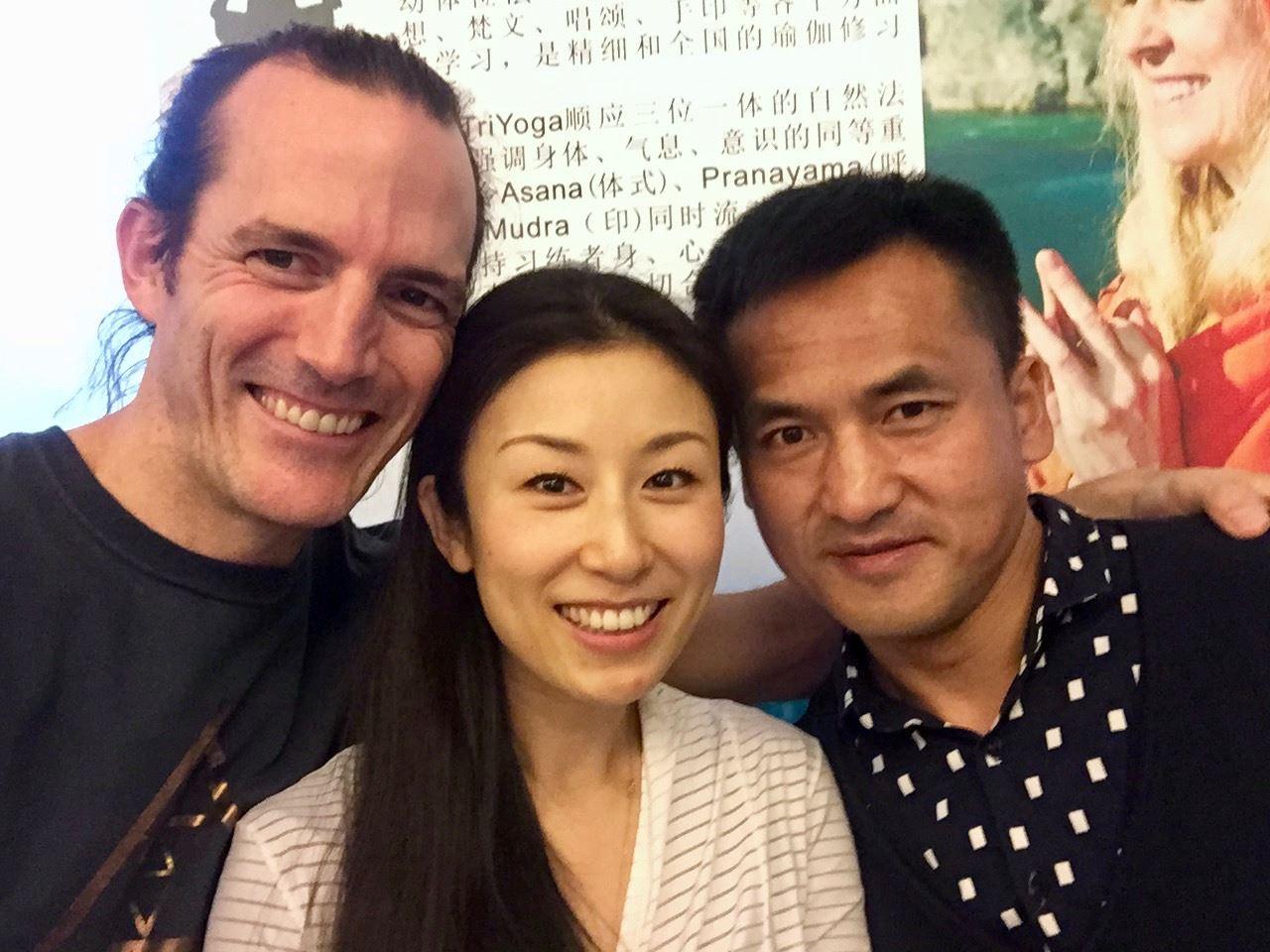 Rishi, Kiki, and TYC Coordinator Lei Jun