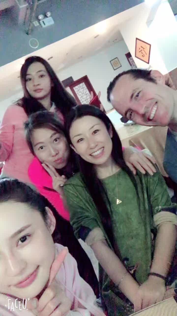Rishi, Kiki, and students