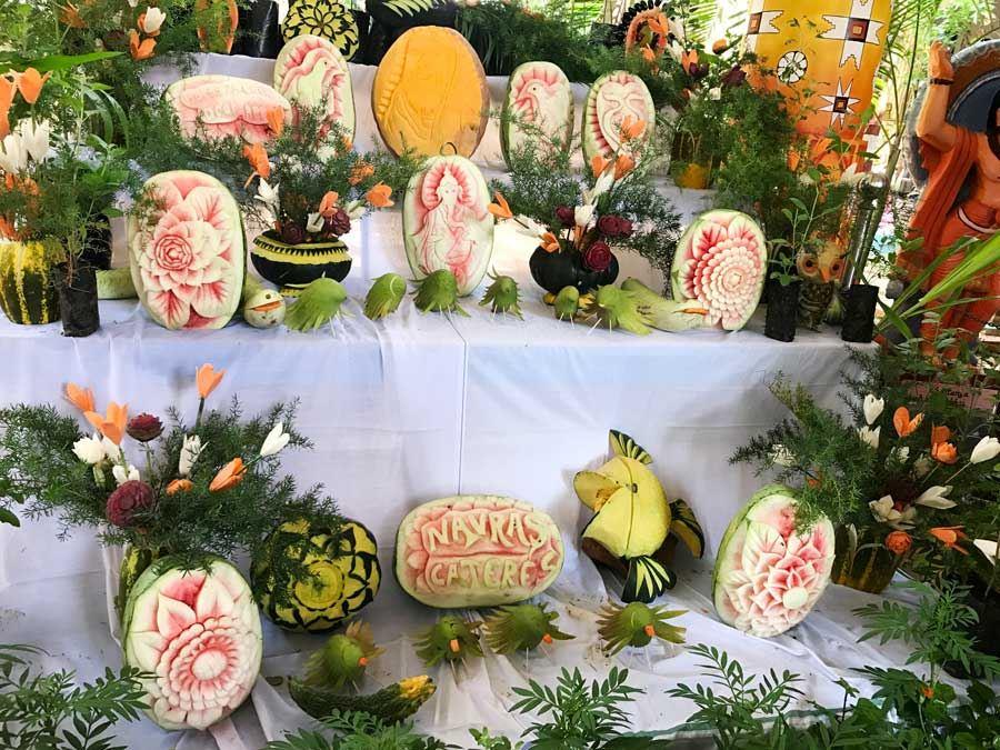 Papaya carvings