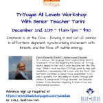All Levels Workshop with Tarini