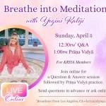 Q&A & Prana Vidya Live Online with Kaliji